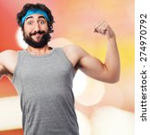 strong sportsman   Shutterstock . vector #274970792