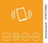 smart phone icon on flat ui...