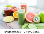 healthy eating  food and diet... | Shutterstock . vector #274973558