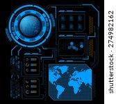 sci fi futuristic user... | Shutterstock .eps vector #274982162