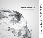 abstract futuristic background... | Shutterstock .eps vector #274982192