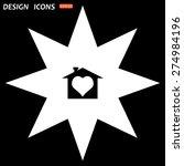 white star on a black... | Shutterstock .eps vector #274984196