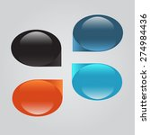 set of colorful circles. can be ... | Shutterstock .eps vector #274984436