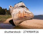 Shipwreck  Abandoned Wooden Boa
