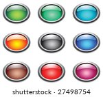 vector oval color buttons. | Shutterstock .eps vector #27498754