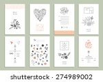 hand drawn collection of... | Shutterstock .eps vector #274989002