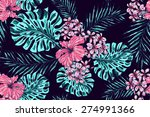 beautiful seamless vector... | Shutterstock .eps vector #274991366