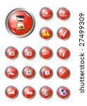 red buttons collection part 2 | Shutterstock .eps vector #27499309