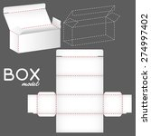 white box model  package... | Shutterstock .eps vector #274997402