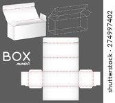 white box model  package... | Shutterstock .eps vector #274997402