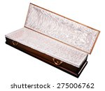 an open coffin  isolated on a...   Shutterstock . vector #275006762