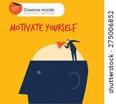coach on a head motivate... | Shutterstock .eps vector #275006852