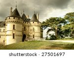 medieval Chaumont castle - artistic toned picture - stock photo