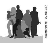big family   generation | Shutterstock . vector #27501787