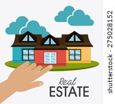 real estate design over white... | Shutterstock .eps vector #275028152