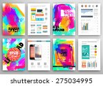 set of vector poster templates... | Shutterstock .eps vector #275034995