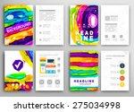 set of vector poster templates... | Shutterstock .eps vector #275034998