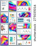 set of vector poster templates... | Shutterstock .eps vector #275035016