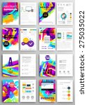 set of vector poster templates... | Shutterstock .eps vector #275035022