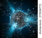 disco planet explosion | Shutterstock . vector #275038772