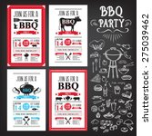 barbecue party invitation. bbq... | Shutterstock .eps vector #275039462