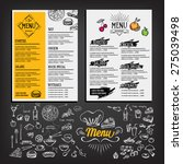 restaurant cafe menu  template... | Shutterstock .eps vector #275039498
