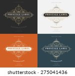 set of vintage frame for luxury ... | Shutterstock .eps vector #275041436