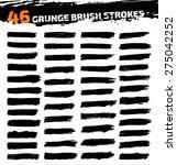 set of black different grunge... | Shutterstock .eps vector #275042252