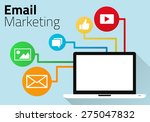 email marketing concept with... | Shutterstock .eps vector #275047832