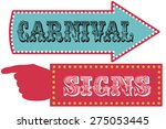 carnival sign template... | Shutterstock .eps vector #275053445