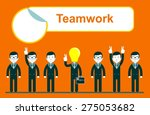 flat design for team work... | Shutterstock .eps vector #275053682