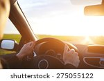 driving car on the empty road ... | Shutterstock . vector #275055122