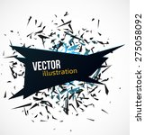abstract black banner with blue ... | Shutterstock .eps vector #275058092