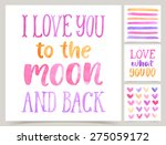 vector collection of love cards ... | Shutterstock .eps vector #275059172