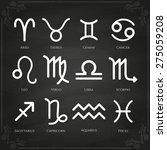 zodiac symbol icons on white... | Shutterstock .eps vector #275059208