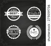 vector commercial stamps set in ... | Shutterstock .eps vector #275059736