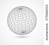 abstract globe sphere from gray ... | Shutterstock .eps vector #275060522