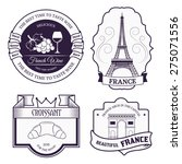 country france set label... | Shutterstock .eps vector #275071556
