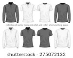men's t shirt and polo shirt.... | Shutterstock .eps vector #275072132