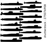 contour image of submarines...   Shutterstock .eps vector #275076908
