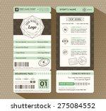 hipster design boarding pass... | Shutterstock .eps vector #275084552