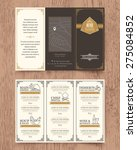 vintage restaurant menu design... | Shutterstock .eps vector #275084852