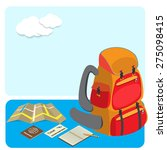 backpack and traveling... | Shutterstock .eps vector #275098415