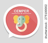 elephant toy flat icon with... | Shutterstock .eps vector #275100002