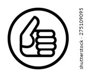 thumbs up vector icon | Shutterstock .eps vector #275109095