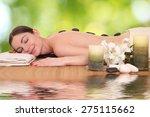beautiful young girl lying in a ... | Shutterstock . vector #275115662