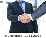 closeup of a business hand... | Shutterstock . vector #275118098