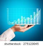 smartphone in the hand  market... | Shutterstock . vector #275123045
