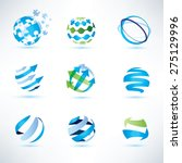abstract globe symbol set... | Shutterstock .eps vector #275129996