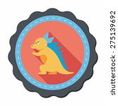dinosaur flat icon with long... | Shutterstock .eps vector #275139692